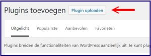 Wordpress plugin Zip-bestand Uploaden