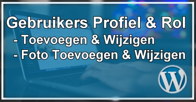 WordPress Gebruikers Profiel, Rol & Gravatar