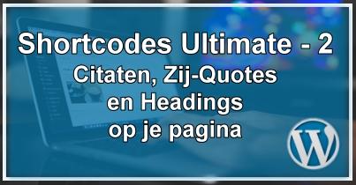 WordPress Shortcodes Deel 2