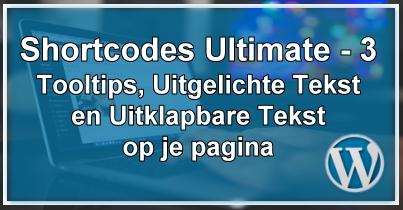 WordPress Shortcodes Deel 3