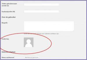 Wordpress Gebruikers Gravatar