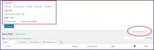 WordPress Berichten Scherminstellingen