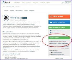 WordPress Bitnami Installeren