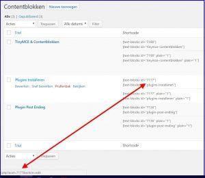 WordPress Contentblokken ID