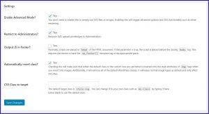 Wordpress SVG Instellingen