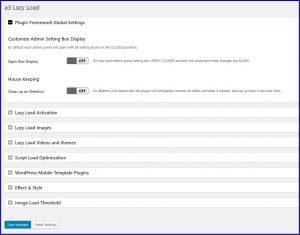 Wordpress Lazy load Instellingen