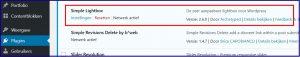 WordPress Lightbox Instellingen