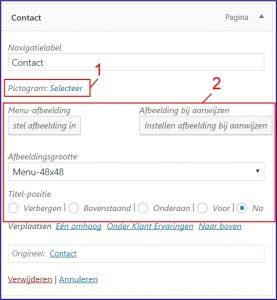 Wordpress menu icons en afbeeldingen