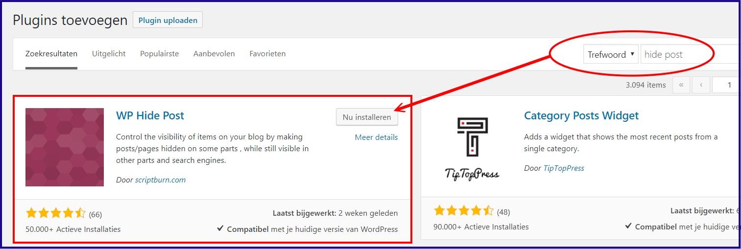 wordpress pagina alleen zichtbaar na inloggen