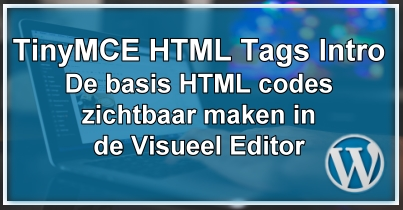 TinyMCE HTML Tags Intro