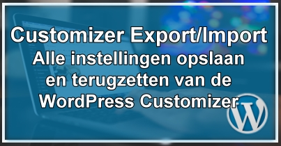 WordPress Customizer Export/Import