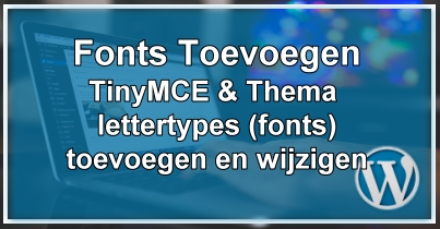 WordPress Extra Fonts