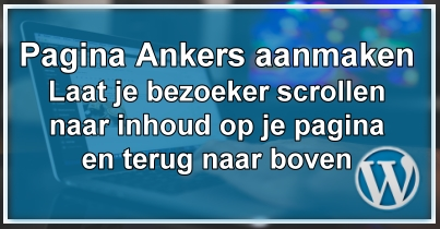 WordPress Pagina Ankers
