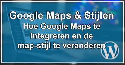 WordPress Google Maps & Map Stylen