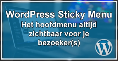 WordPress Sticky Menu