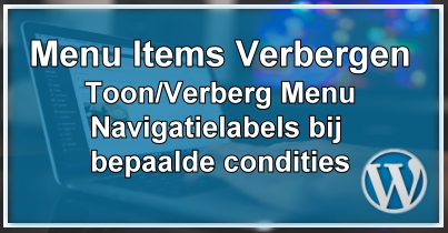 WordPress Toon / Verberg Menu Items