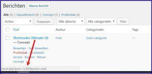 WordPress Berichten ID
