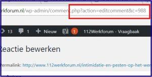 WordPress Reactie ID