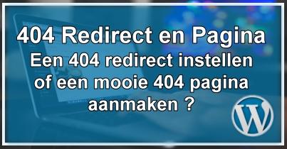 WordPress 404 pagina