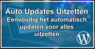 WordPress Automatische Update Uit/Aan