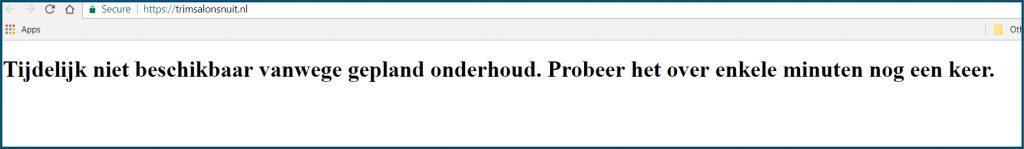 Wordpress onderhoudsmode