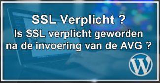 SSL Verplicht volgens AVG ?