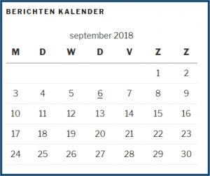 Berichten Kalender Widget