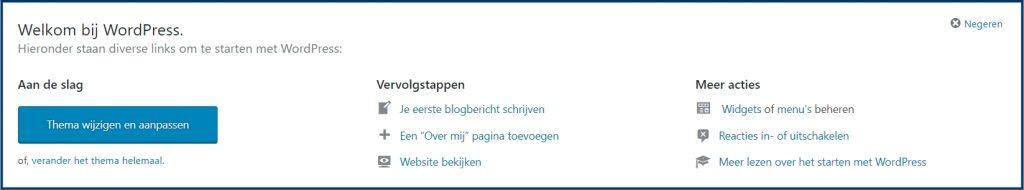 Welkom bij WordPress