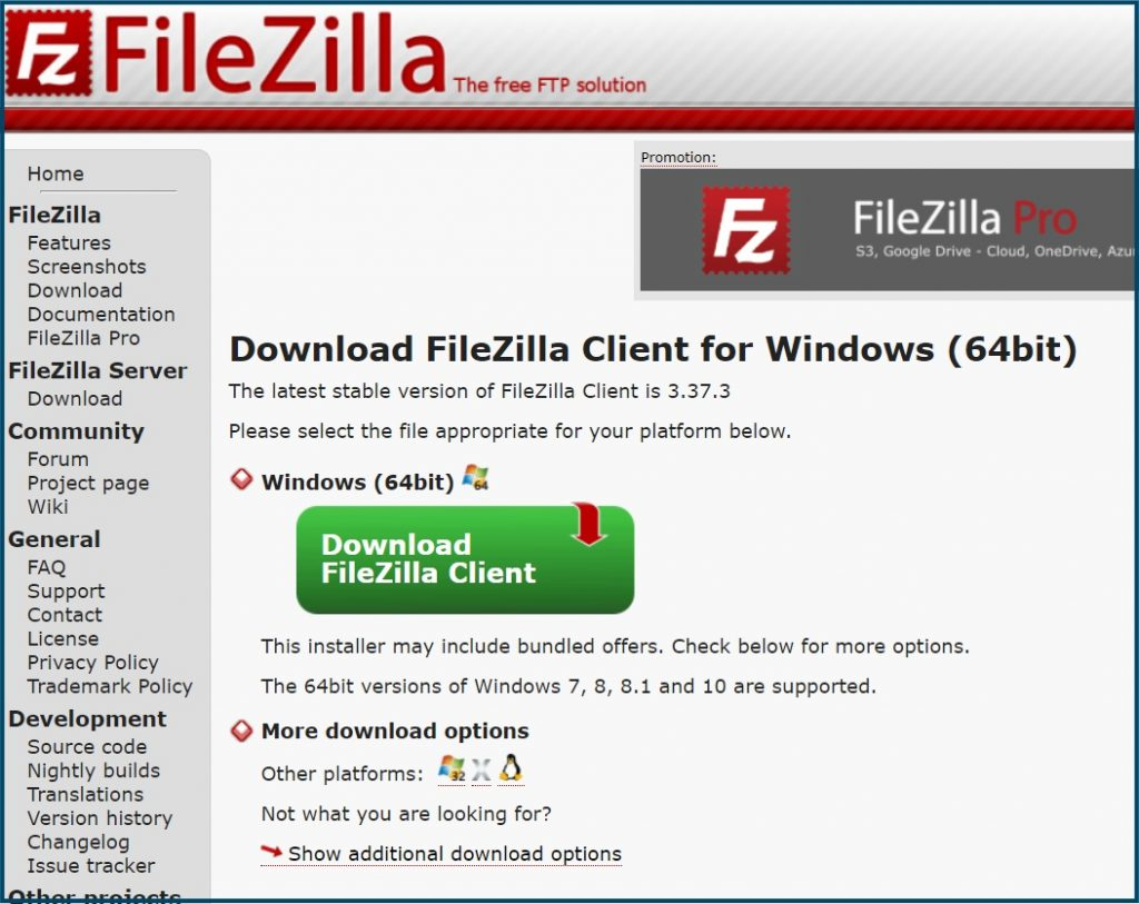 WordPress FileZilla Download