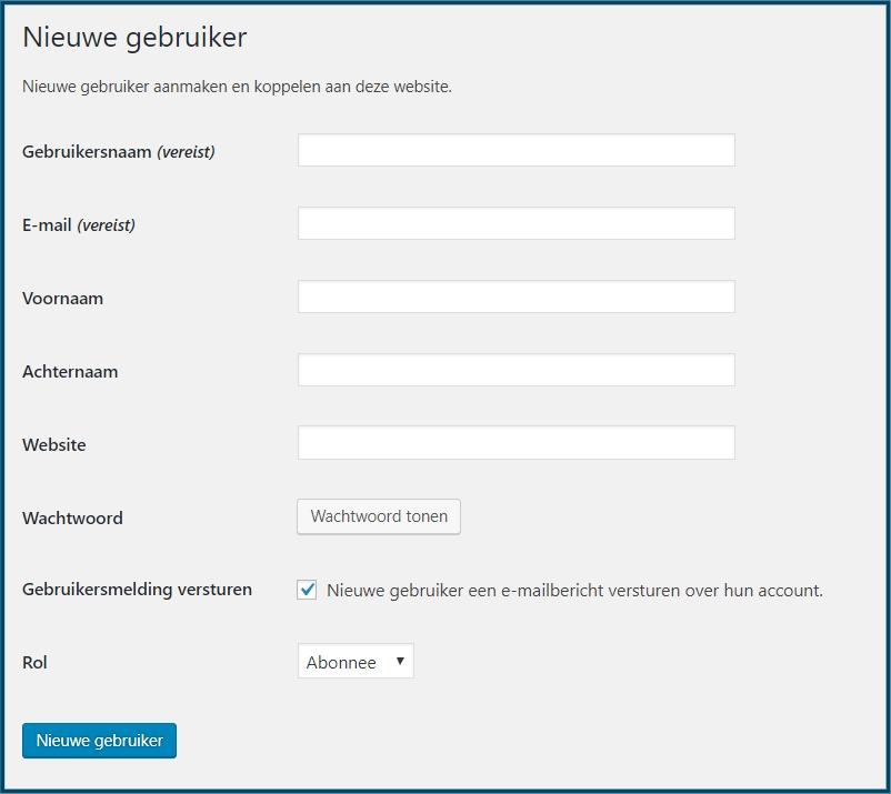 WordPress Gebruikers Toevoegen
