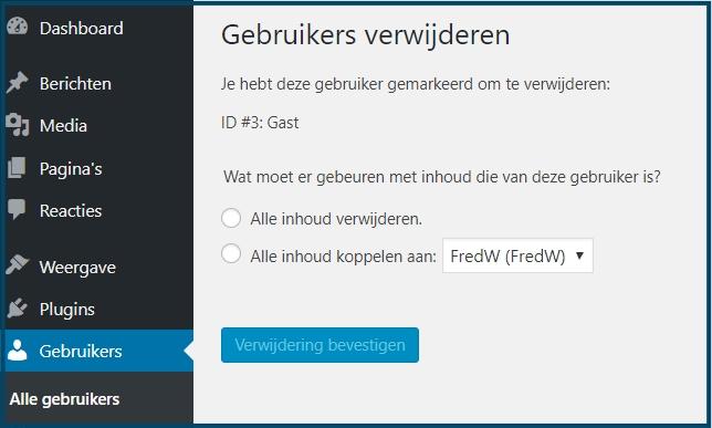 WordPress gebruikerscontent toewijzen aan