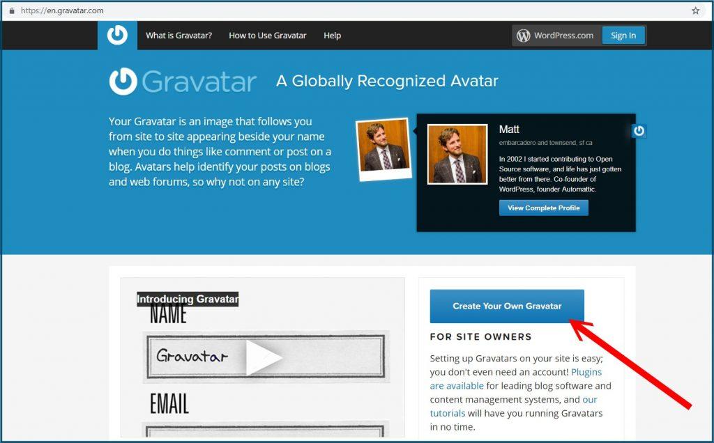 Gravatar Website