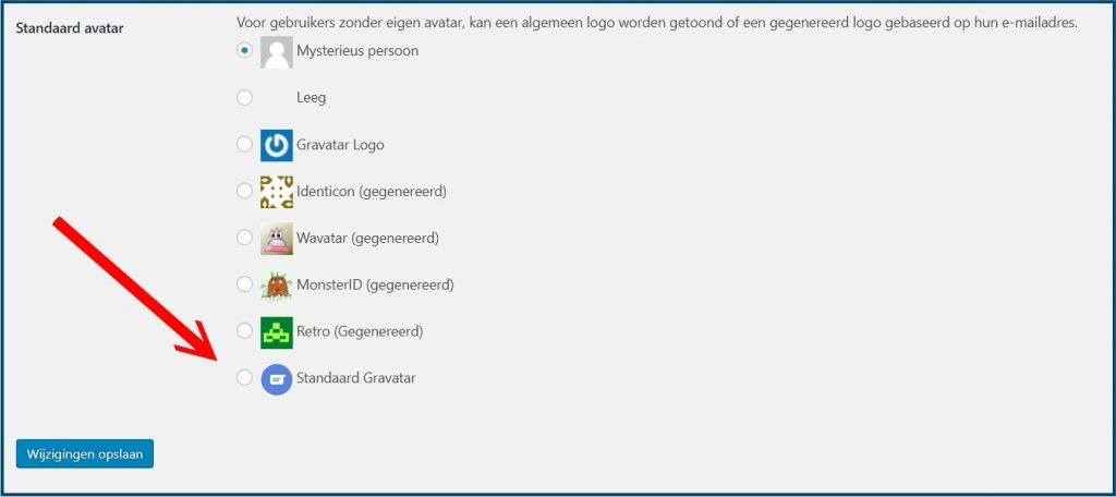 WordPress Avatar Instellen