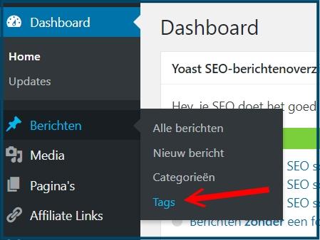 WordPress Tags Wijzigen