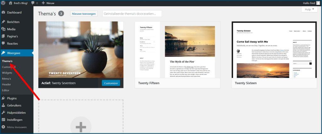 WordPress Thema Overzicht