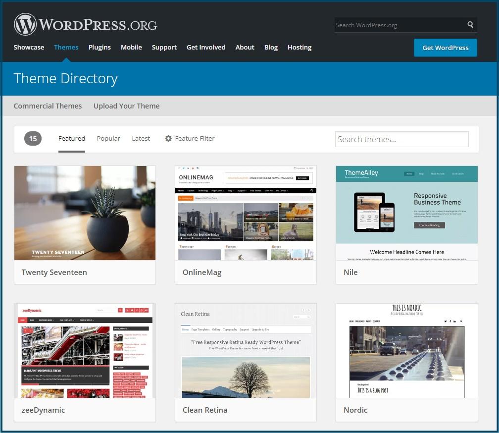 WordPress Gratis Thema's