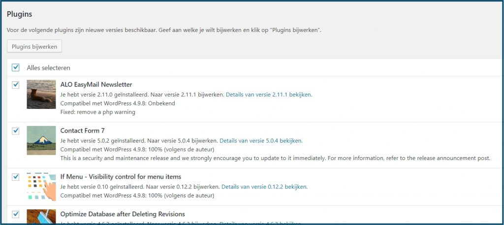 WordPress Plugins Updaten