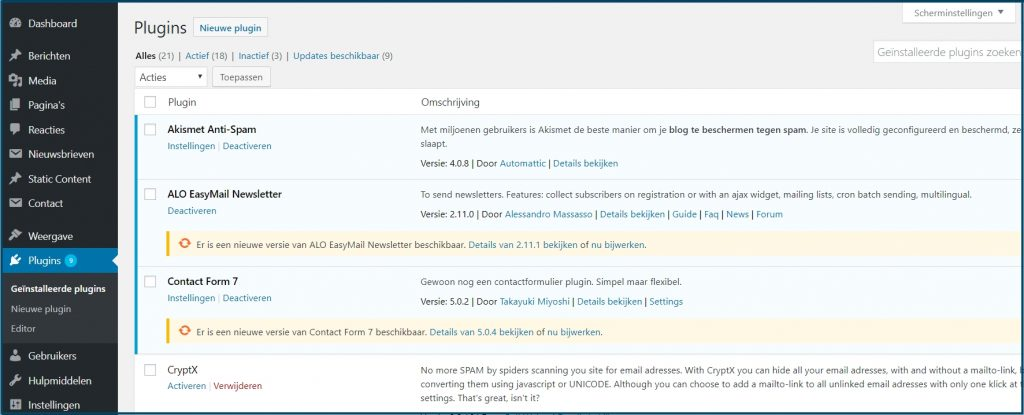 WordPress Plugins Updates