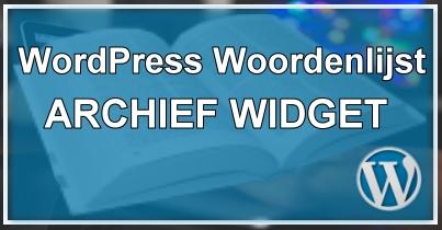 WordPress Archief Widget