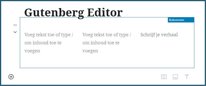 WordPress Gutenberg Kolommen