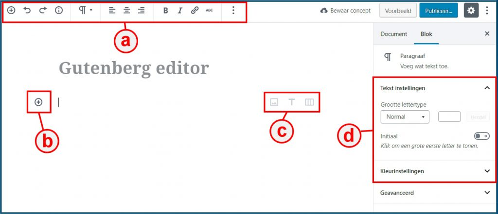 WordPress Gutenberg paragraaf bewerken