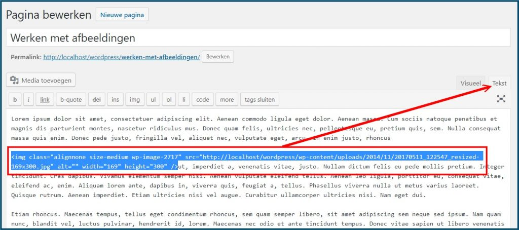 WordPress Media Link tonen