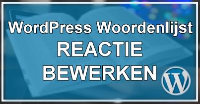 WordPress Reactie Bewerken