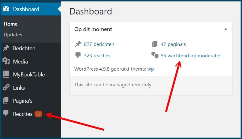 WordPress Reactie Notificties