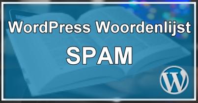 WordPress SPAM Reacties