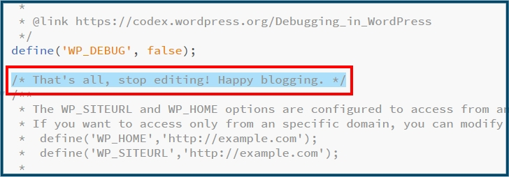 WordPress wp-config.php aanpassen