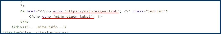 Copyright Info Vervangen door Eigen Tekst & Link