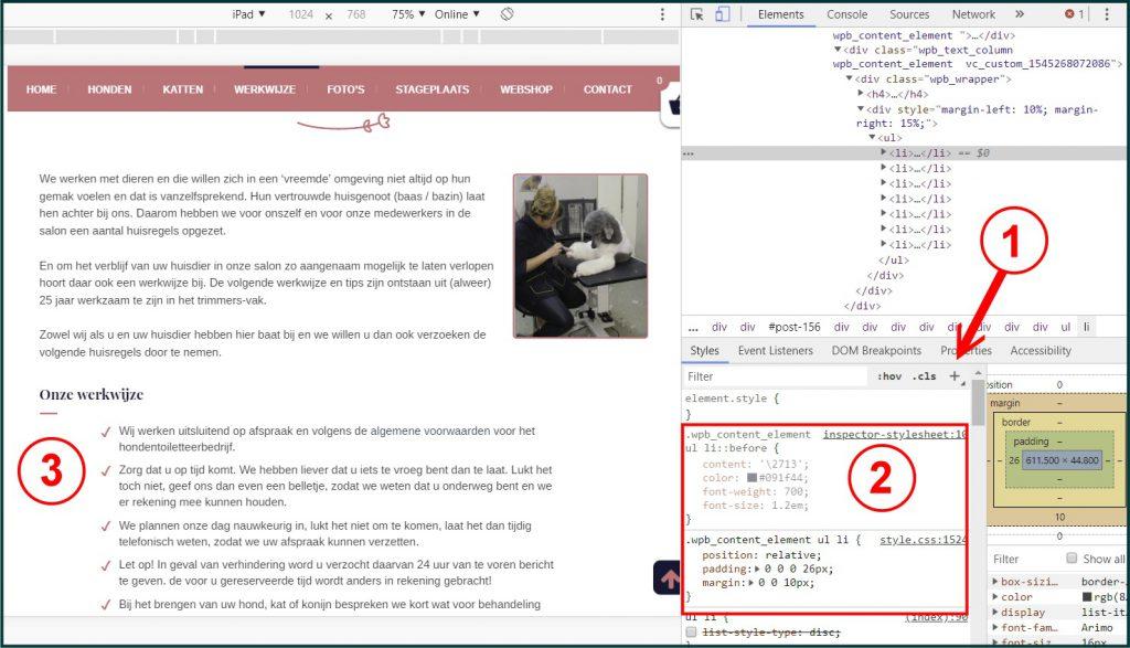 WordPress Lijst CSS Toevoegen