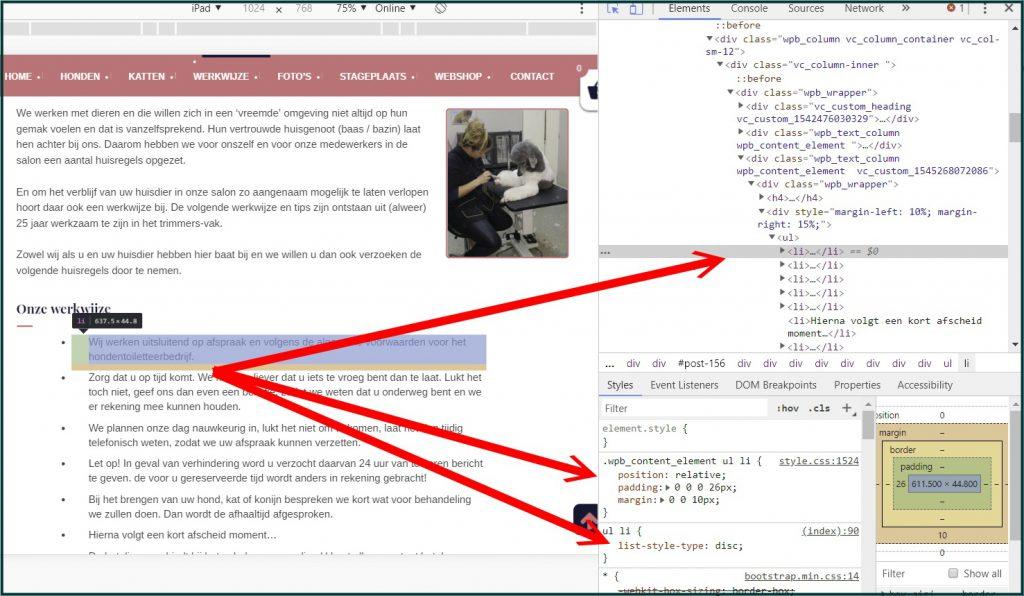 WordPress Lijsten CSS aanpassen