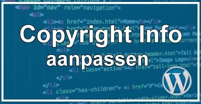 WordPress Thema Aanpassen Copyright informatie verwijderen